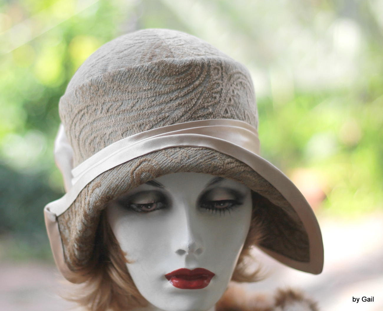 Unique 1920s hats vintage great gatsby style cloche by gailshats