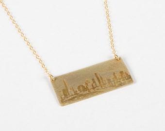 Houston Necklace - Houston Jewelry - Texas Necklace - Texas Jewelry - Houston Skyline - Hometown Gift - Skyline Jewelry - City Jewelry