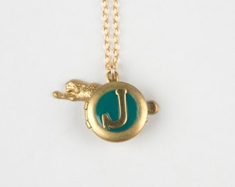 J Necklace - J Initial Necklace - Letter J Locket - Personalized Jewelry - Personalized Locket