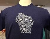 Wisconsin Bike Parts tshirt - Next Level S-XXL