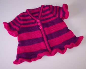 Babies, Baby Girl, Ruffled Baby Cardigan, 6 Months, Baby Shower Gift, Holiday Gift