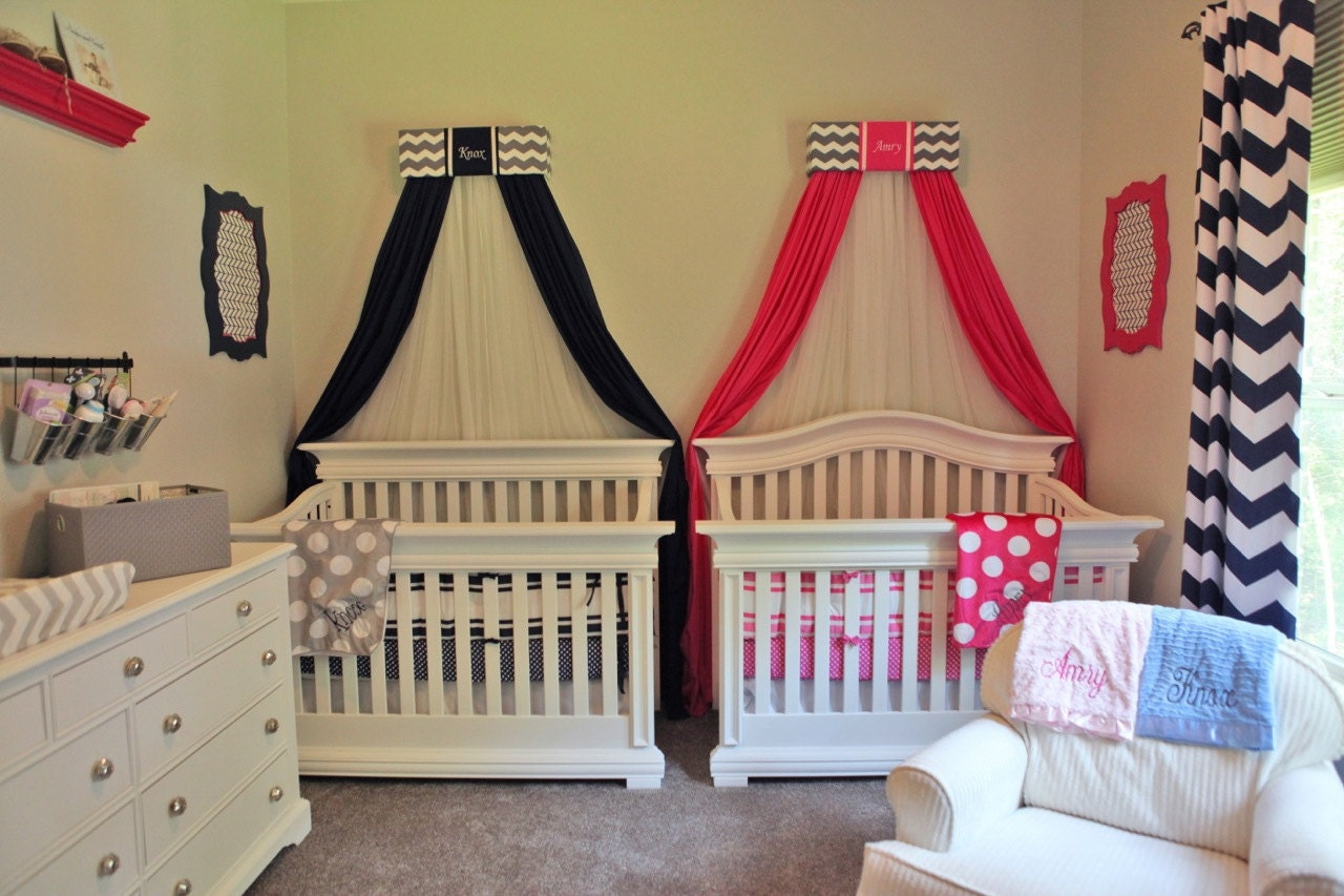 🔎zoom - TWIN Boy Girl Bed Canopies Matching Sisters Princess