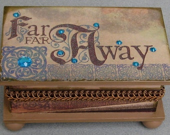 Far Far Away Storybook Keepsake Trinket Box