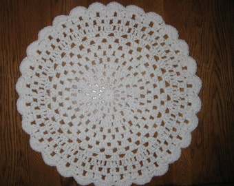 Crochet Placemats set of 2 in White