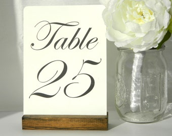 Table Number Holder + Rustic Wedding + Rustic Wood Table Number Holders (5inch)- Set of 10