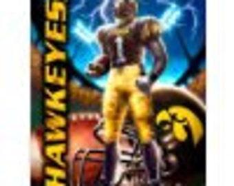 Iowa Hawkeyes NoSew Fleece Blanket