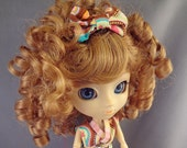 Doll Wig Size 8-9 Monique Charmaine Ginger Red for SD BJD, Pullip, Blythe Modacrylic