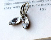 Crystal Clear Rhinestone Earrings for the Bride / Sparkle in Estate Style Jewelry / Vintage Wedding Jewelry for Bridesmaids / Gift for Her