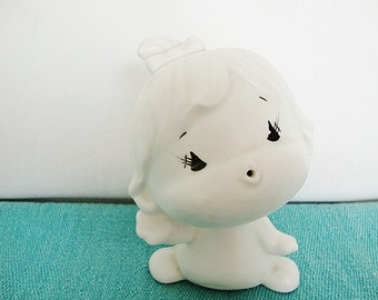 vintage kawaii baby coin bank pottery infant