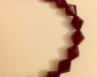 Crimson Red Crystal Cut Bracelet