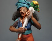 Nina - a ooak 12th scale African miniature lady/doll/woman by CWPoppets