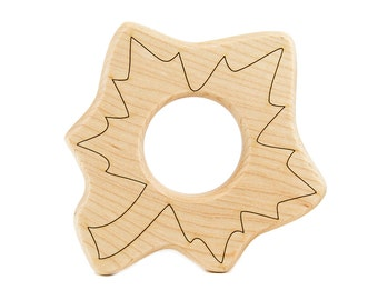 Leaf Wood Toy Teether