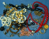 Huge Mixed Jewelry Assortment Lot, 47 pieces - necklaces, bracelets, brooches, pendants, rings - #1