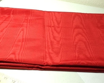 Red Shantung Fabric, 2.5 yards available, 52 inches wide