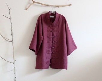 SIZE XS to 6XL custom heavy linen jacket