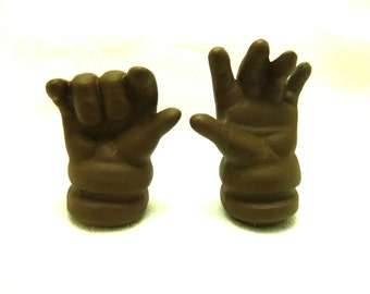 Dark Brown Pottery Baby Doll Hands   #101