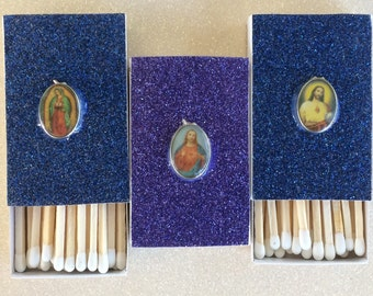 10 Saints Matchboxes - Jesus - Virgin Mary - Our Lady of Guadalupe
