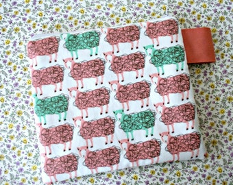 Padded Zipper Pouch for Knitting Notions Crochet Oversize Zippered Bag