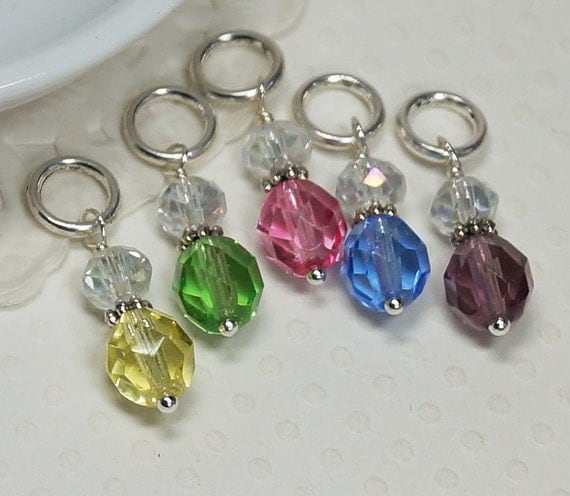Knitting Stitch Markers Soldered ring by Creationsbygmarie2