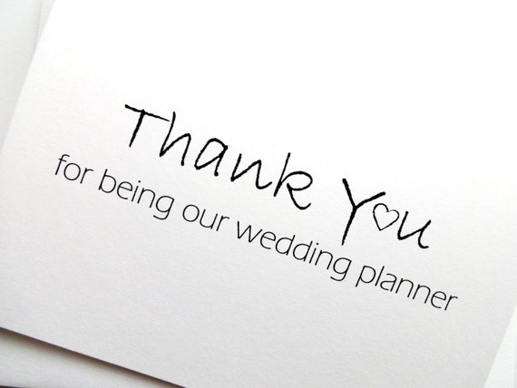 Thank You Gift To Wedding Planner : Wedding Planner CardThank You For Being Our Wedding Planner Card