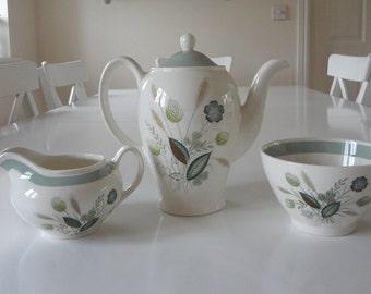 Vintage Porcelain Teapot Tea Set Clovelly by Woods Ware Made in England -  EnglishPreserves