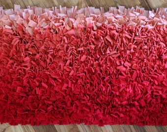Fun and Funky Sunset Ombre Raggety Rug