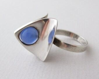 Danish Modern Sterling Silver Ring marked Denmark 76 7