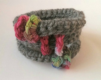 Stacking bangles, wool knit bangles, ladies jewelry, knit jewellery,