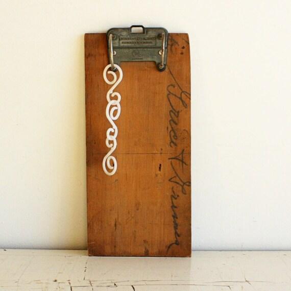 RESERVED For Stella Du Vintage Clipboard Clip By OldCottonwood