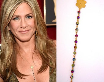 Personalized Necklace, Necklace Of Jennifer Aniston,Celebrity Inspired Necklace,Initial Necklace
