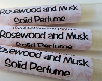 Rosewood and Musk Solid Perfume