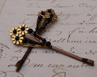 Hand Beaded victorian-style bobby pins