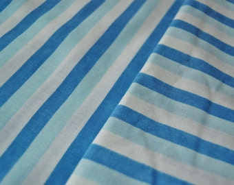 Blue Striped Vintage Twin Flat Sheet