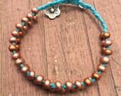 Stackable Beaded Bracelet   Spring Bracelet   Beaded Braided Bracelet