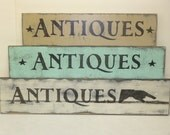 ANTIQUES SIGN / Antiques store sign / antiques wall sign / hand painted sign / Antique sign / ANTIQUES / pointing hand sign /  Antique Store