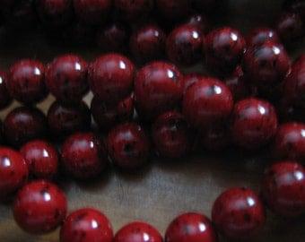 Lot of 50 8mm Garnet Czech Beads