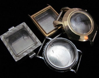 Steampunk Watch Cases Vintage Antique  Altered Art Industrial TV 44