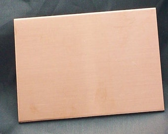 Copper Wallet Inserts - Qty 1, stamping blanks, metal blanks, wallet blanks, credit card blanks