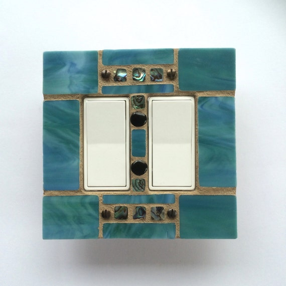 Decorative Stained Glass Light Switch Cover Mosaic Switch