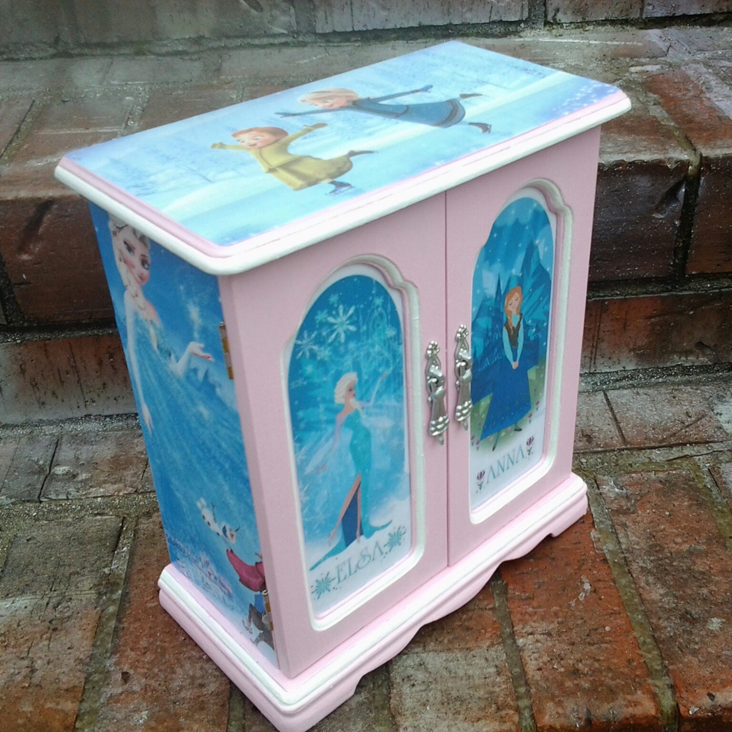 elsa and princess from disney frozen decoupage