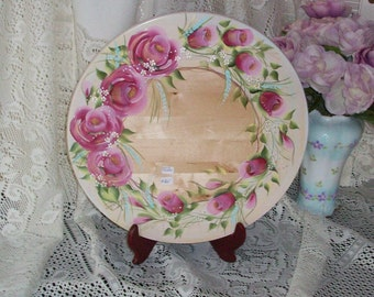 Beautiful Embellished HP Roses Lazy Susan