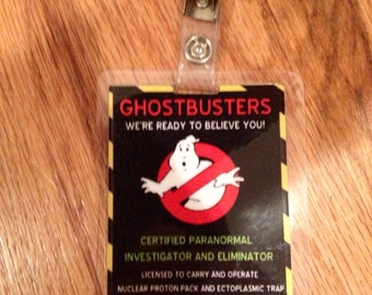 Ghostbusters ID badge