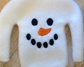 Christmas Elf Snowman Sweater