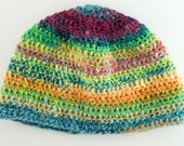 REDUCED PRICE! Multi-color Handspun Baby/Toddler Beanie