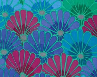 Kaffe Fassett Thousand Flowers Blue Fabric 1 yard