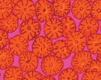 Kaffe Fassett Sand Dollar Orange Brandon Mably Fabric 1 yard