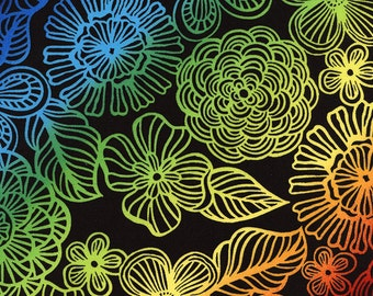Gradation Floral Color Crush Timeless Treasures Fabric 1 yard