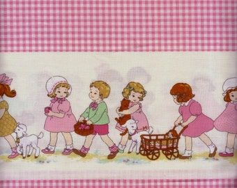 Half Yard Japanese Cotton Fabric Lecien Petite Girl Marianne Border Gingham 2 colors to choose