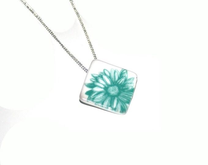 Ceramic Flower Necklace, Ceramic Flower Brooch, Woodland,