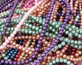 Glass Pearls Bead Mix Choose Colors Spacer Beads 3mm 854